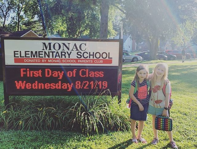 First day! 2nd grade, 4th grade... here we go!!!