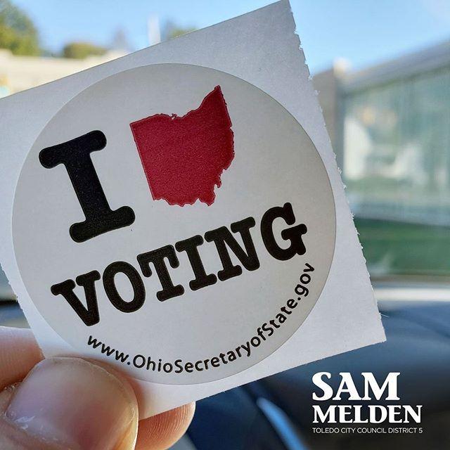 Today's the day! Polls open until 7:30! #VoteToledo 🗳🗳🗳