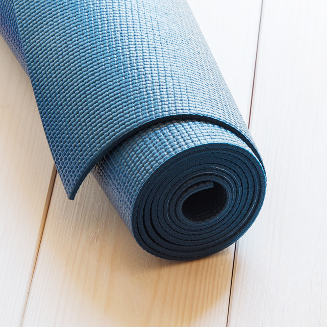 Protect yourself from hard surfaces with a Yoga Mat!