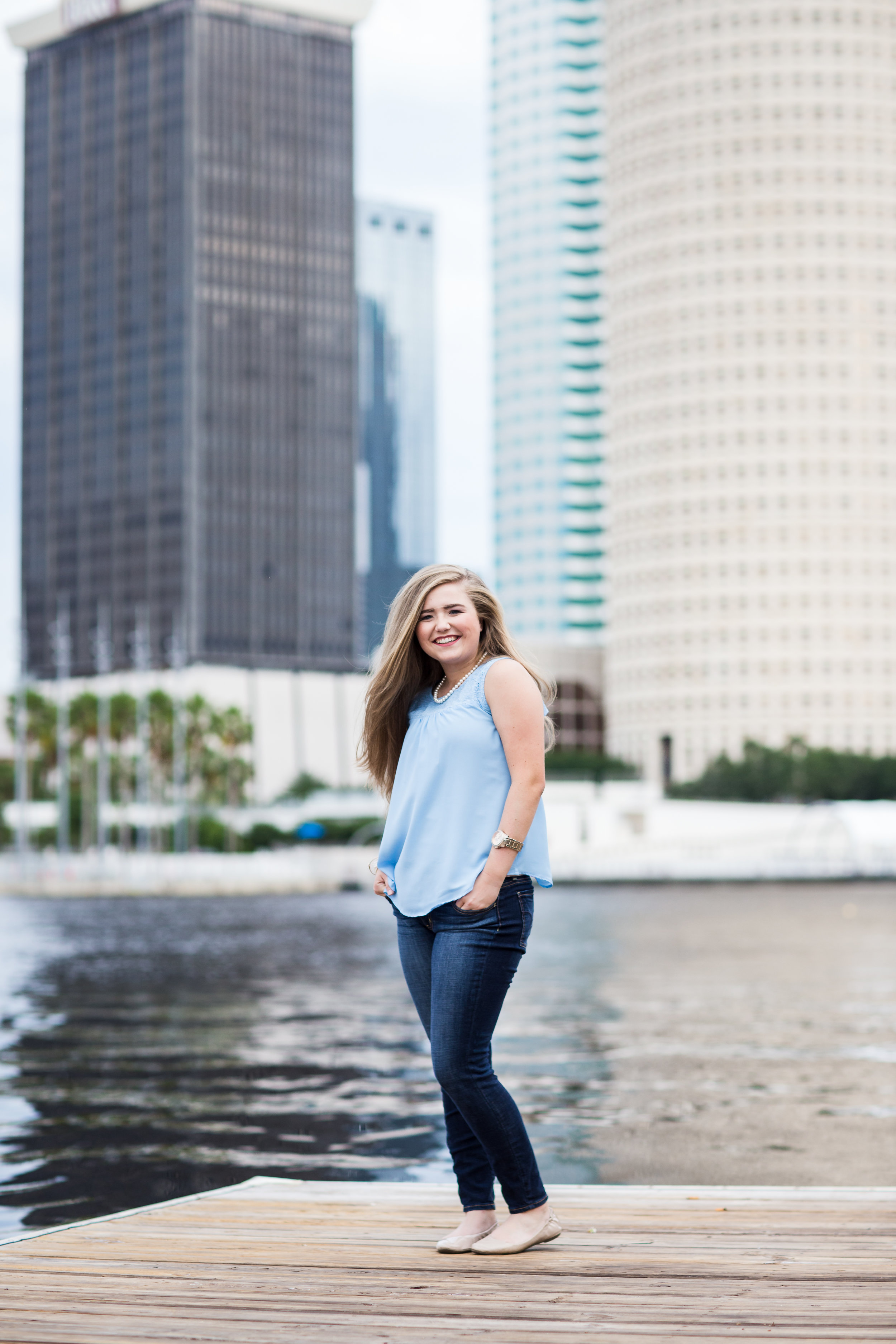 University of Tampa Senior beautiful wind