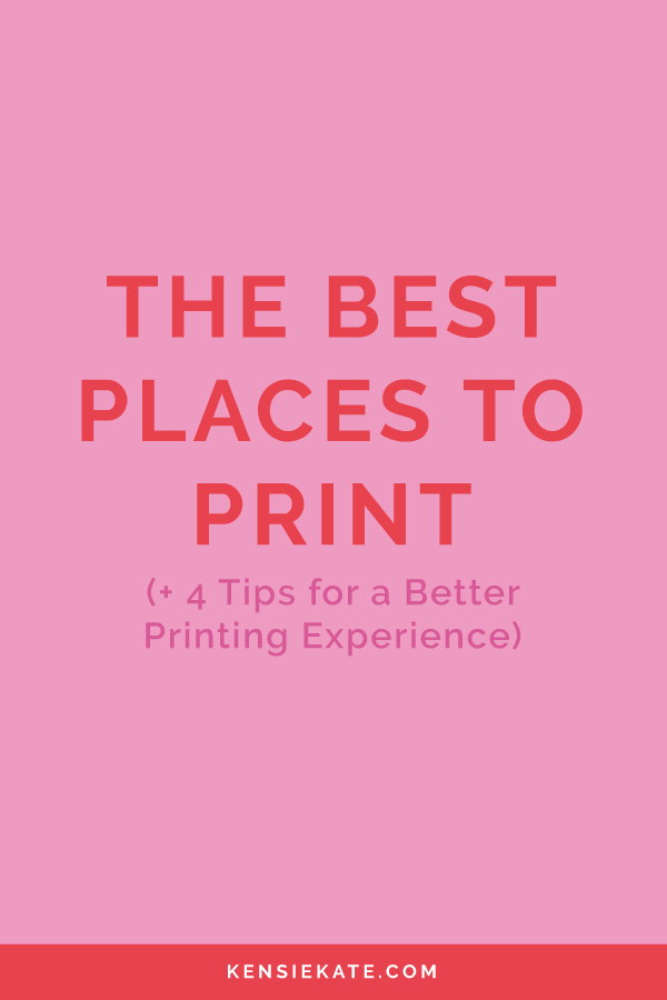 My favorite places to print based on quality, speed, and price.