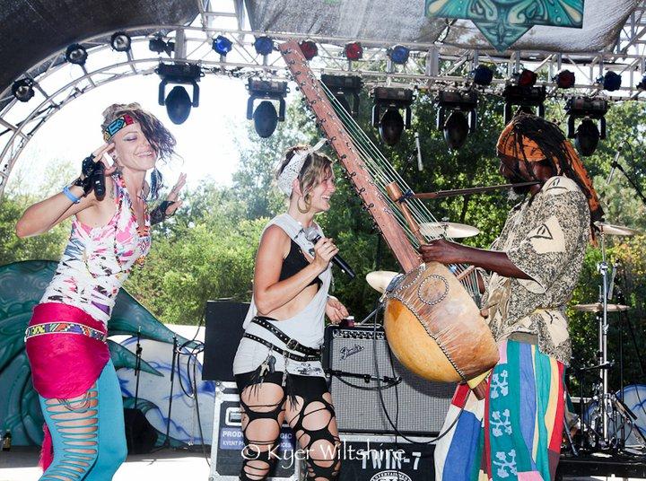 Sasha Rose with Youssoupha Sidibe and Dakini Star