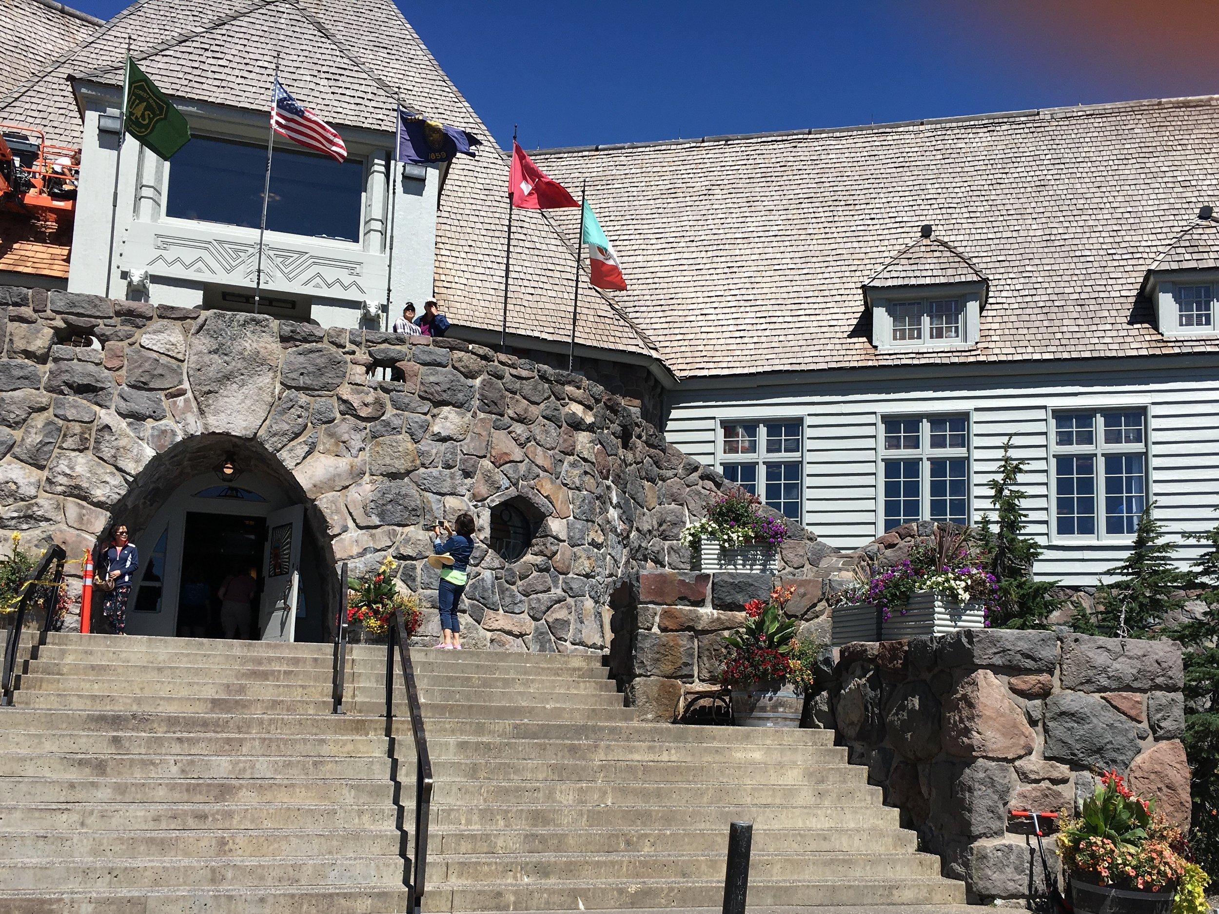 Timberline Lodge Entrance Summer