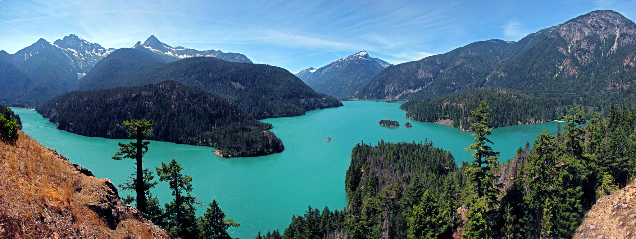 The Lodge Sits On the Edge of Lake Diablo / Photo Courtesy of North Cascades Institute