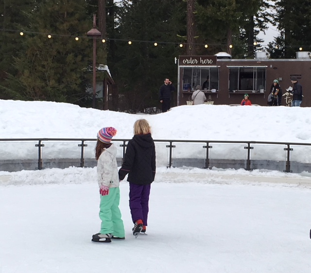 Ice Skating Among the Trees at Suncadia Resort