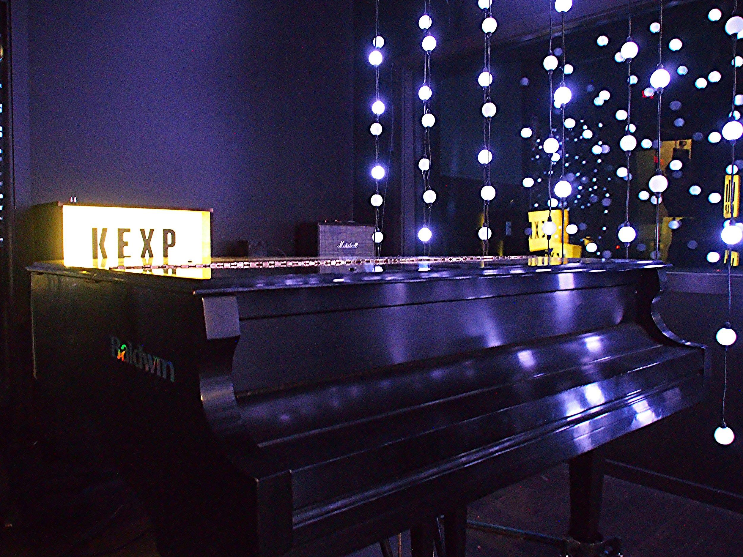 donated grand piano in the studio