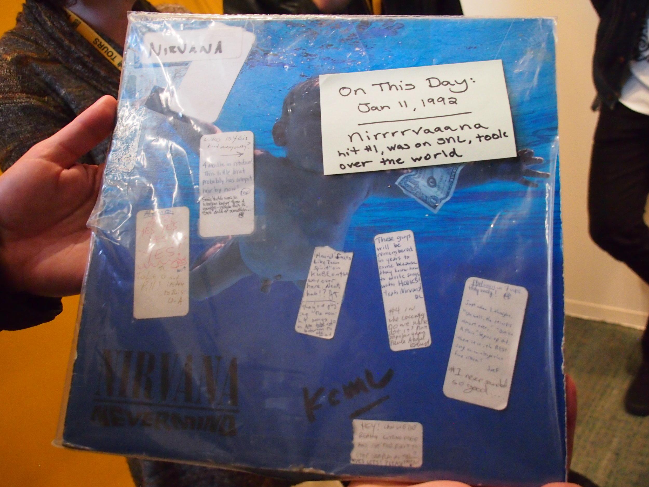 original Nirvanna vinyl and DJ notes