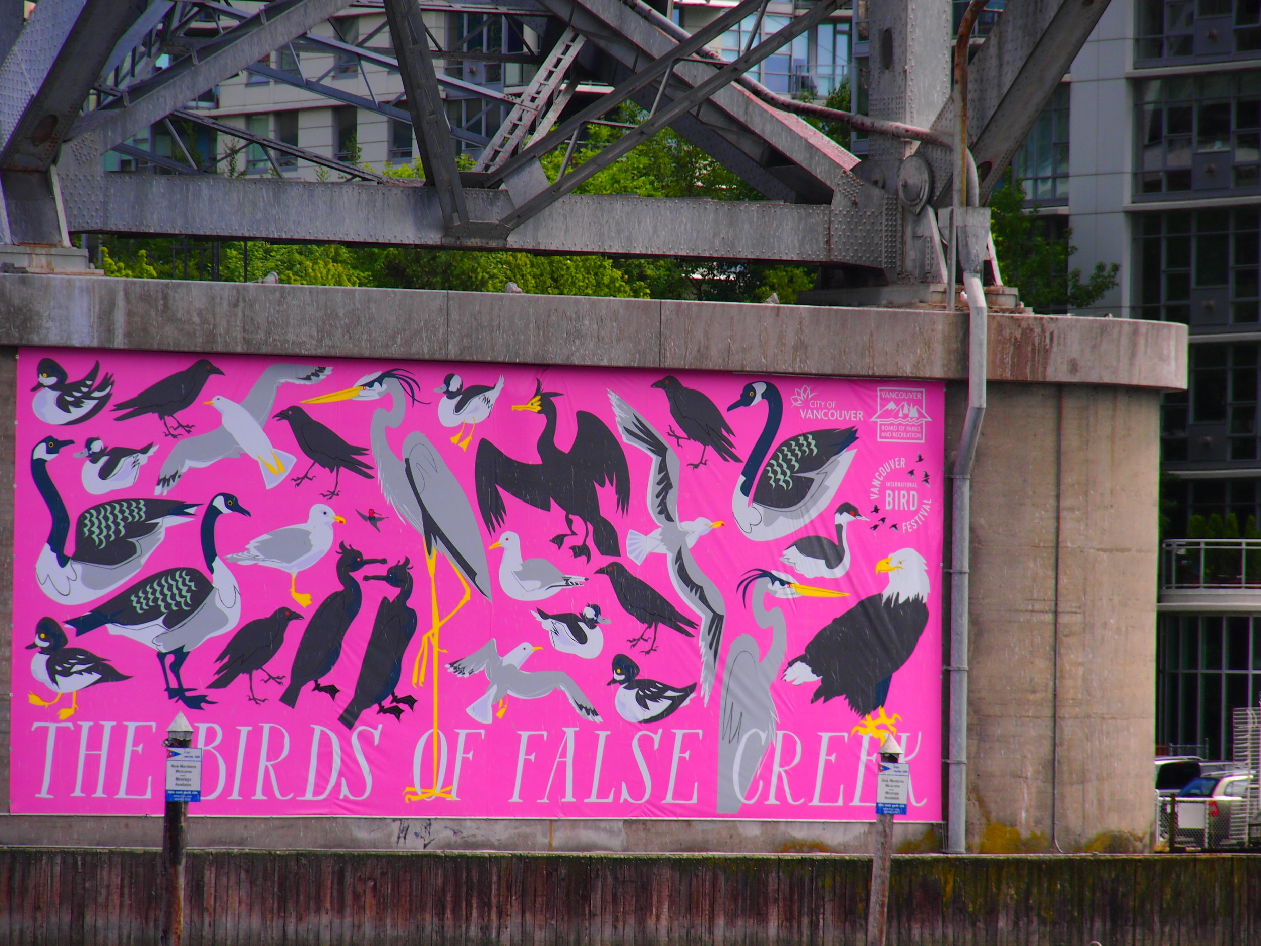 Mural on False Creek