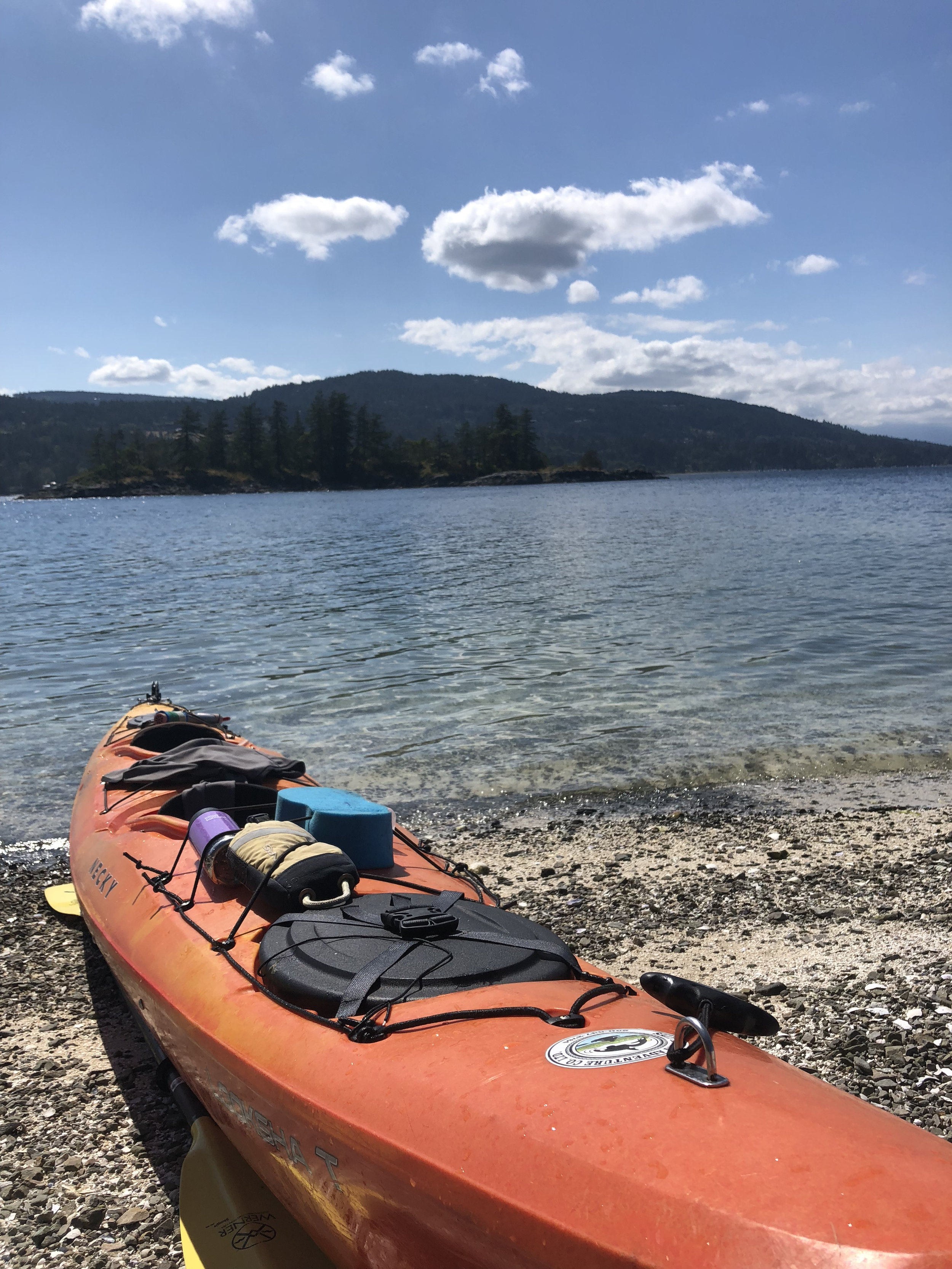 Kayak on Chocolate Beach
