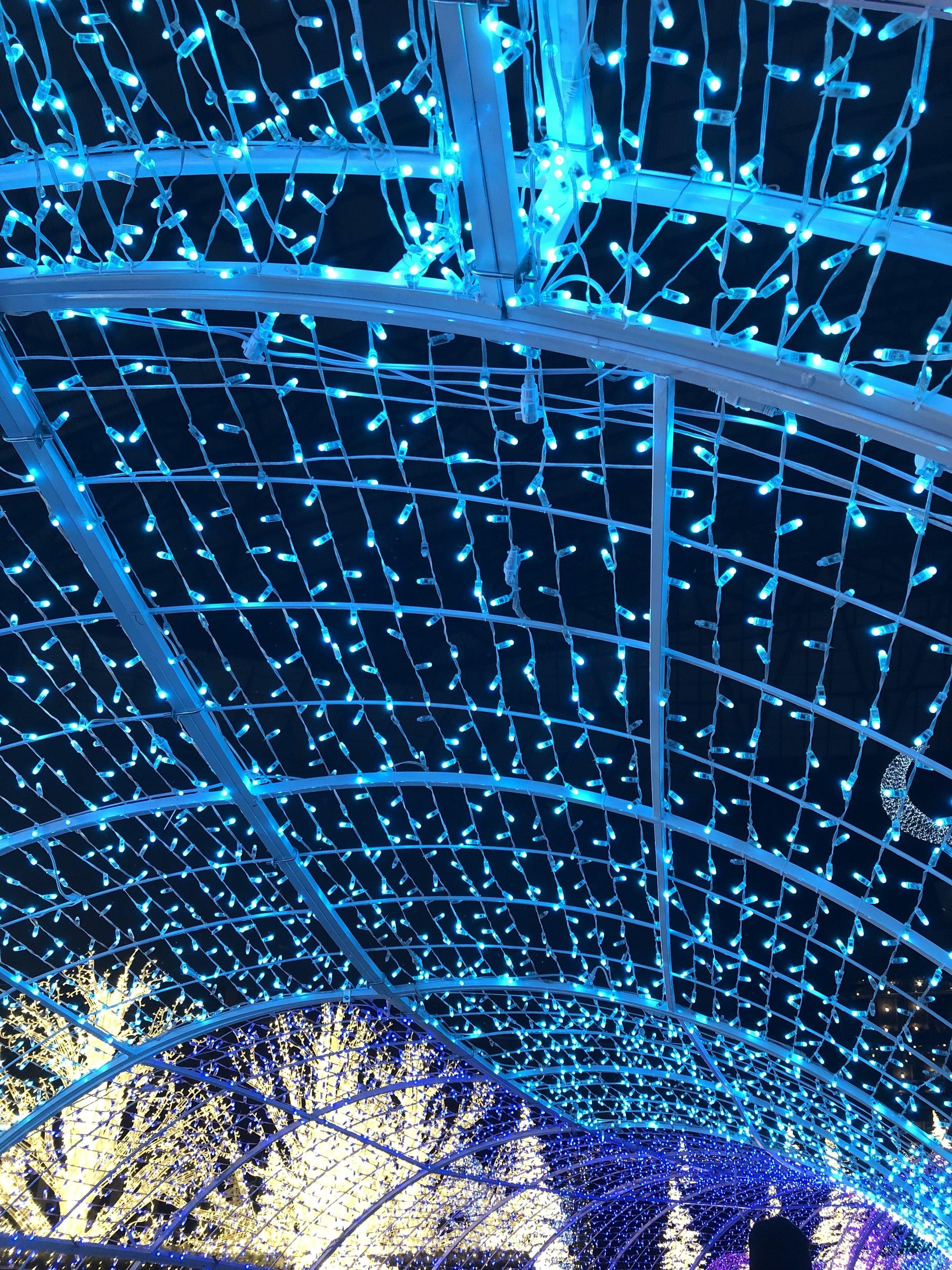 Magical light tunnel