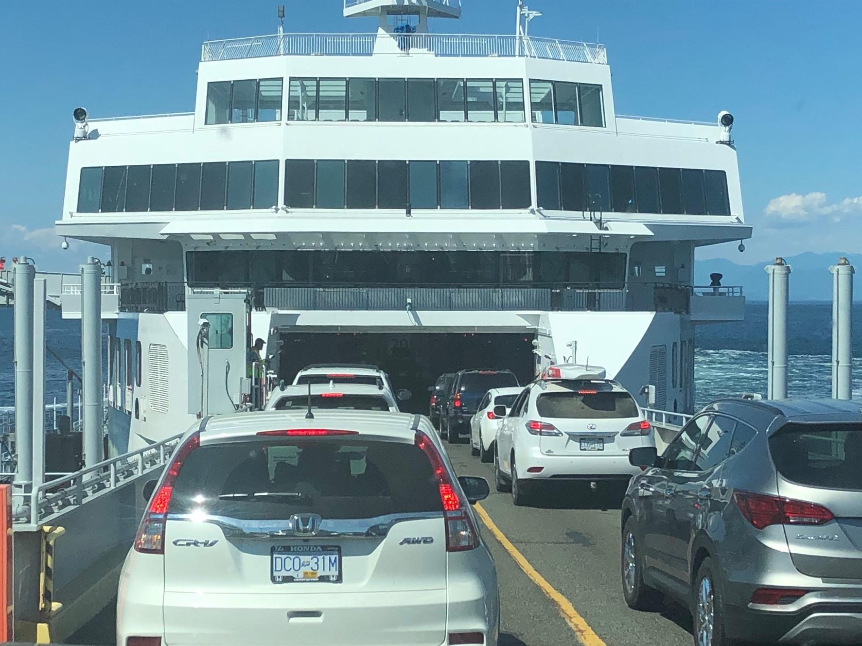 BC has beautiful, comfortable ferries