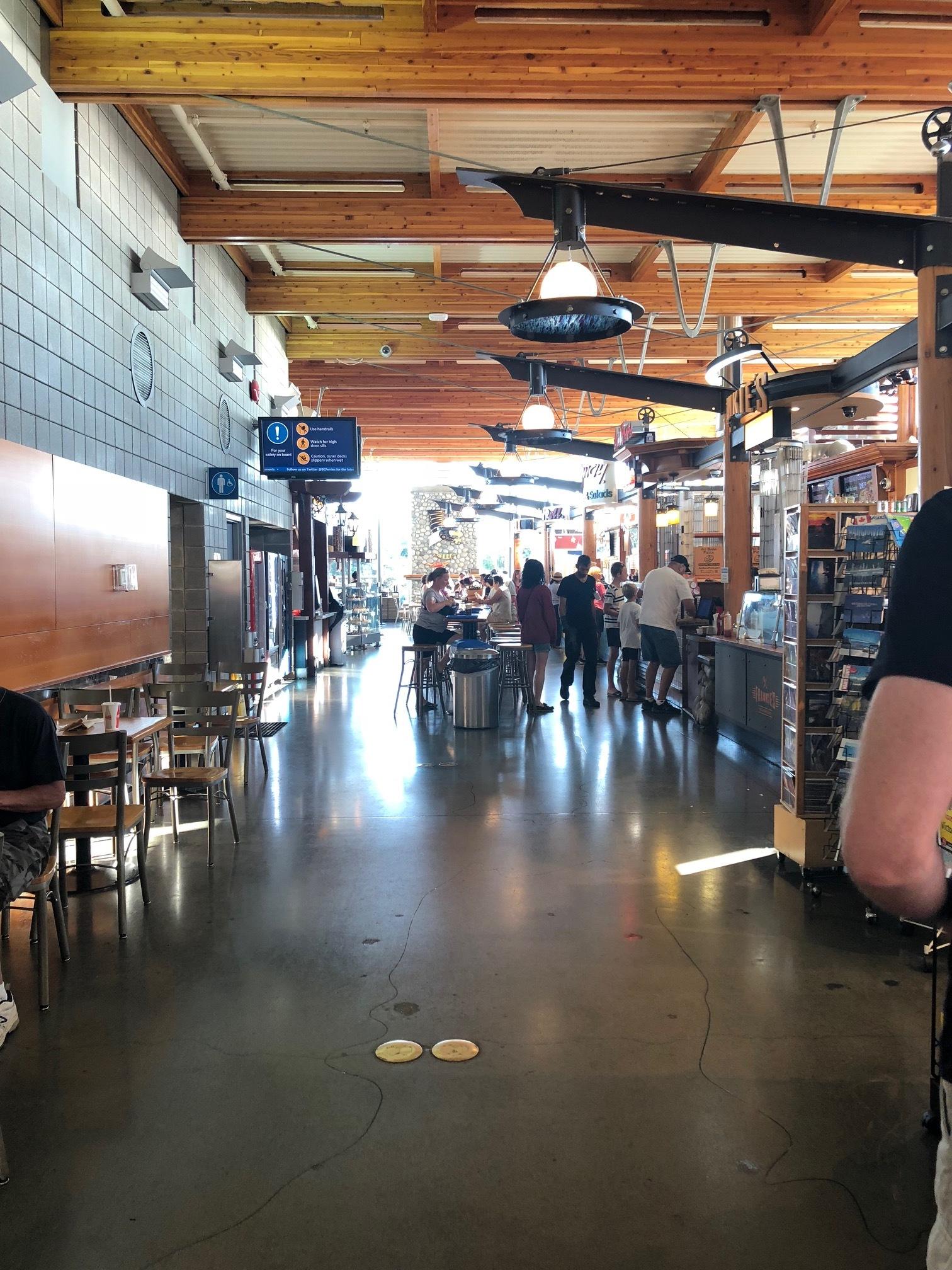 The Tsawassen ferry terminal food court