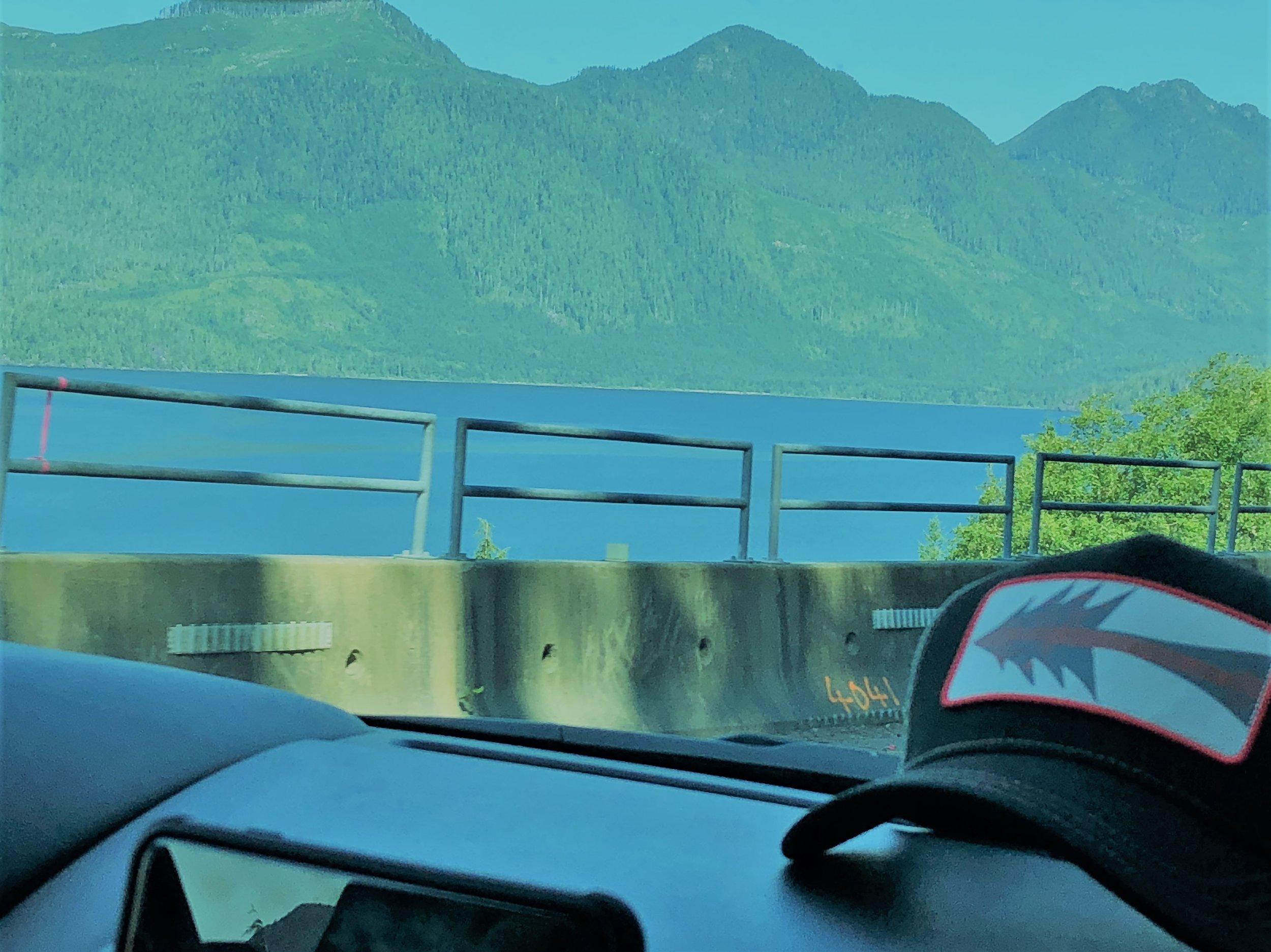 The view driving from Nainamo to Tofino