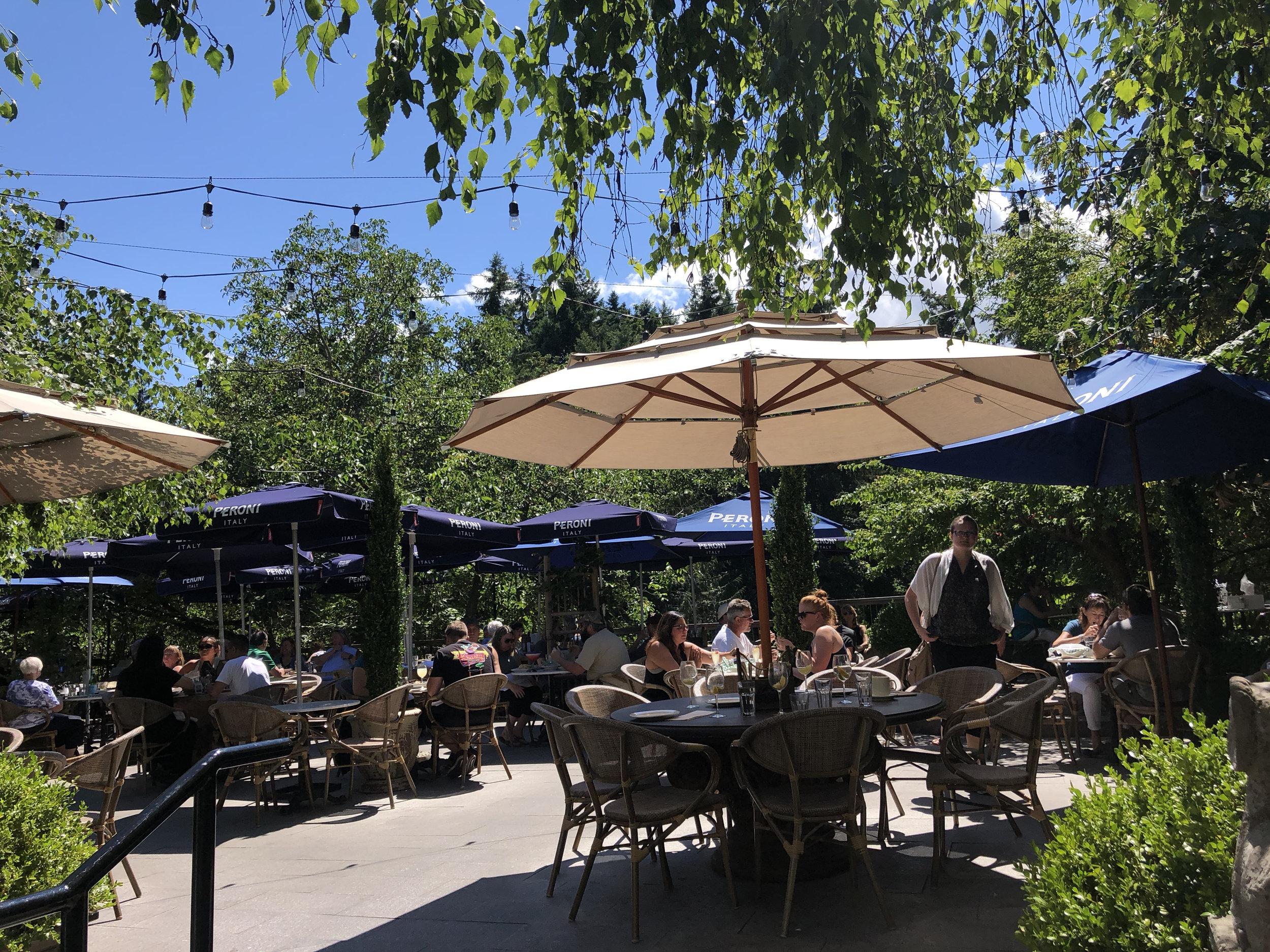 The patio at Cuckoo Trattoria & Pizzeria