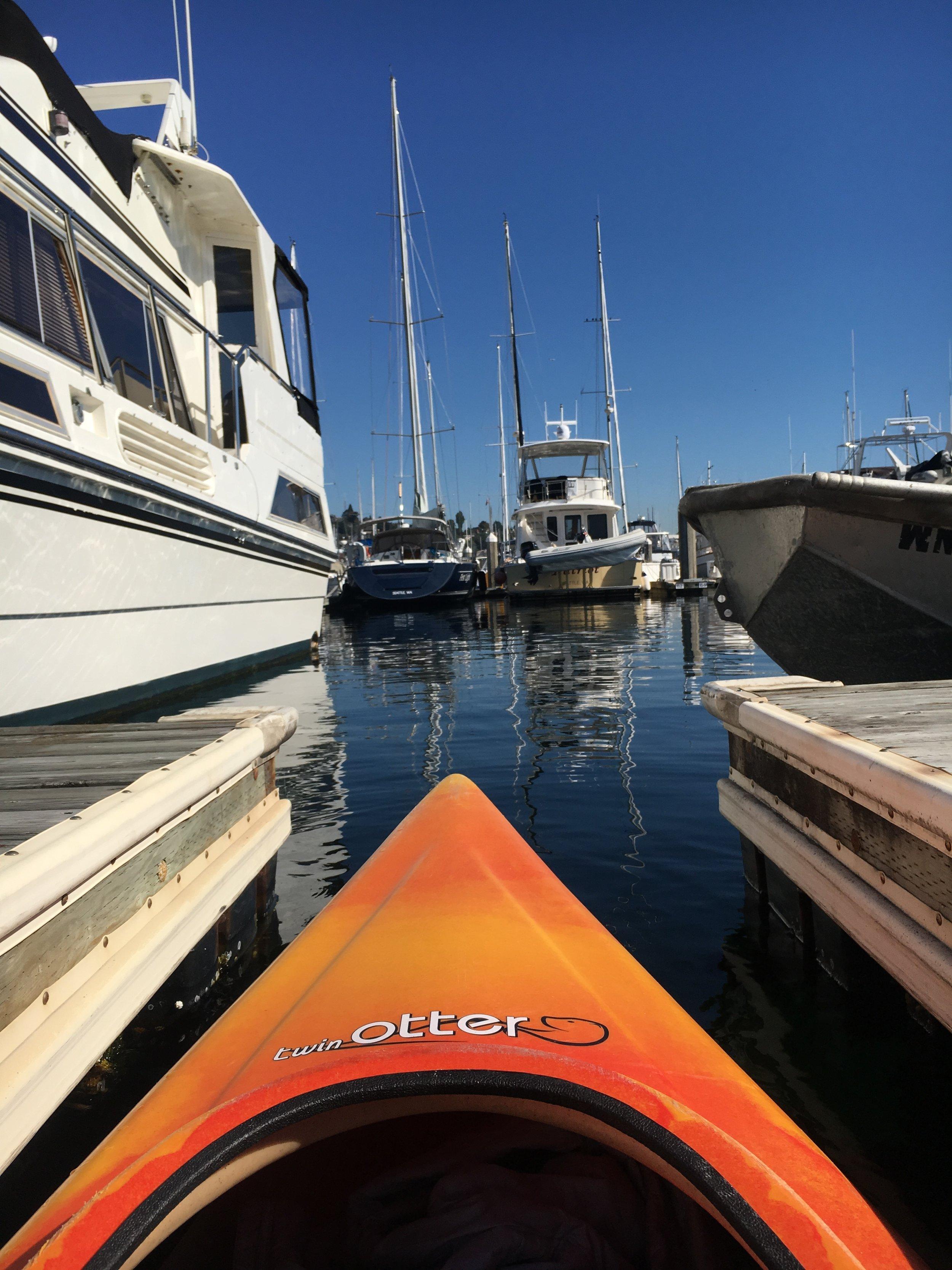 Kayaking Elliott Bay