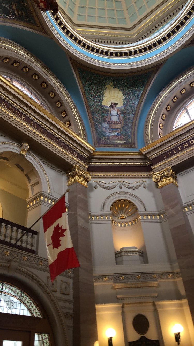 Inside of the B.C. Parliament Building/Photo: S. Goldstein