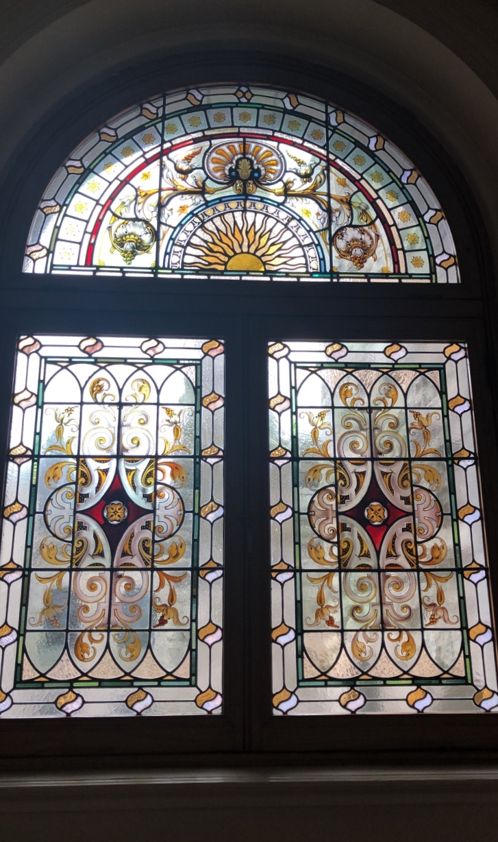 Stained glass inside the Parliament Building/Photo: S. Goldstein