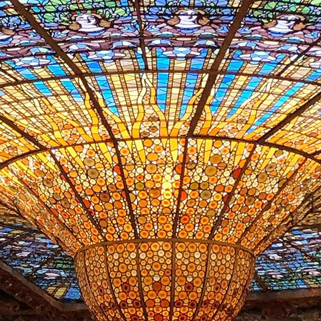 #feelingfortunate to be celebrating 25 years with my hunny, in #spain. Catalan Music Palace in Barcelona is extraordinary. #nofilter #plensaalpalau #stainedglass #experiencepnw #travelblogger