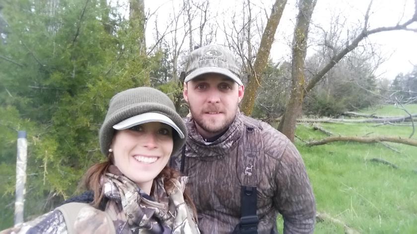 Bundled up in Nebraska…sleeting in May