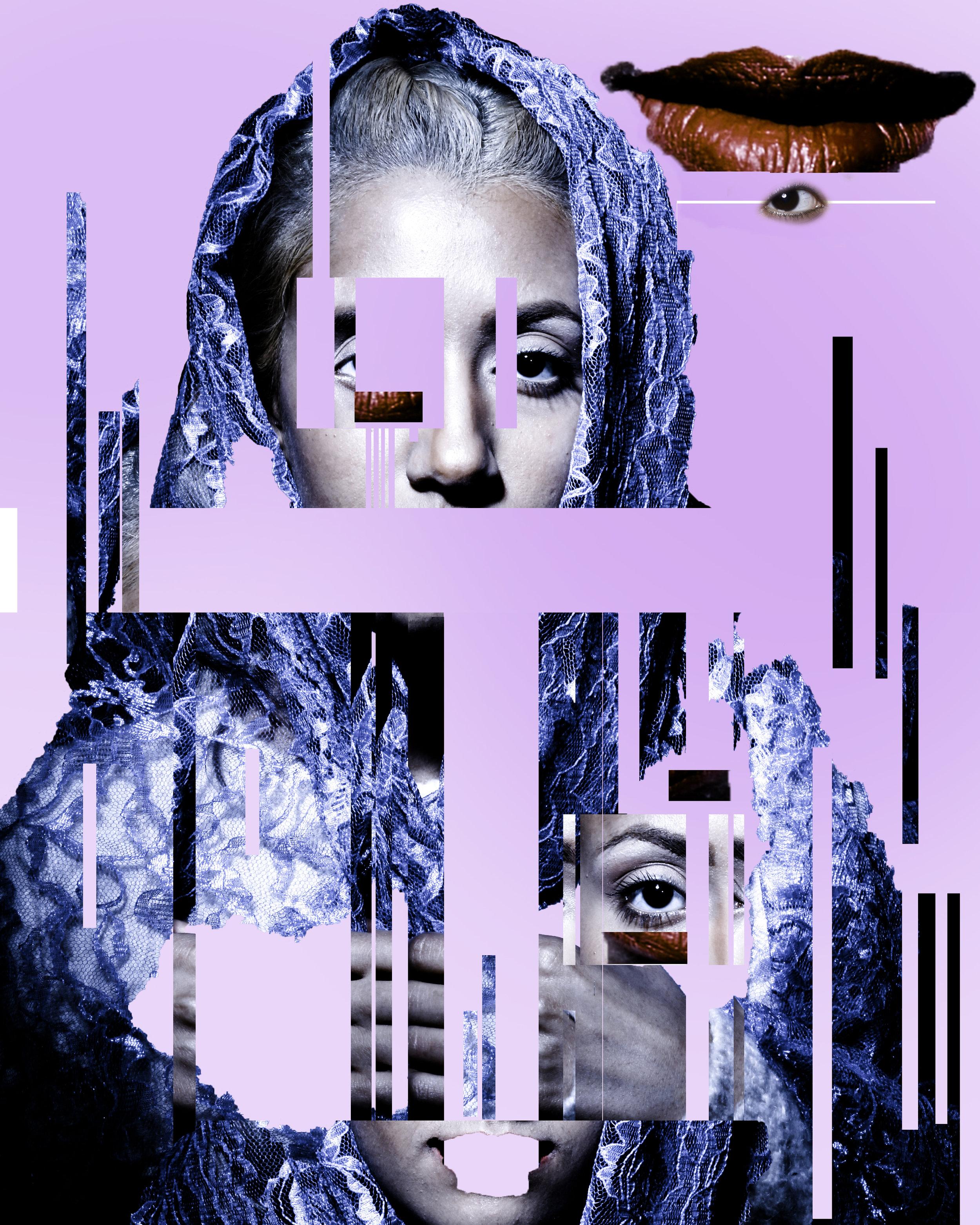 Digital Art made a few years ago of a portrait of Amal