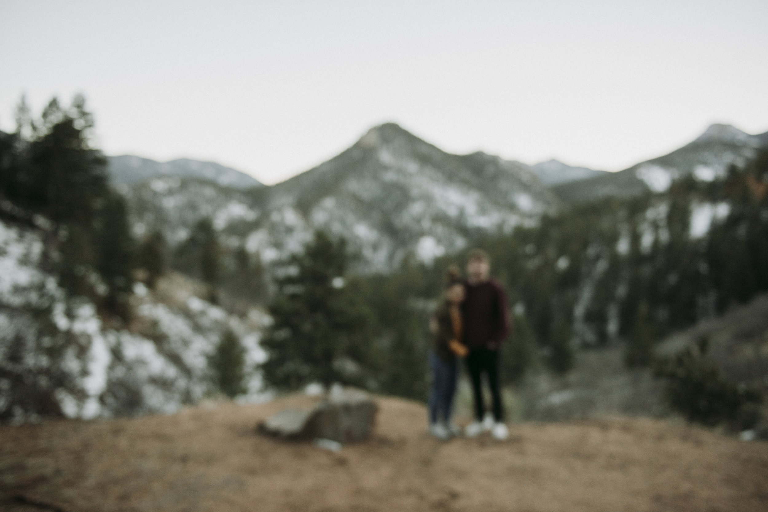 Colorado Springs Adventurous Couple Session at Gold Camp Road -