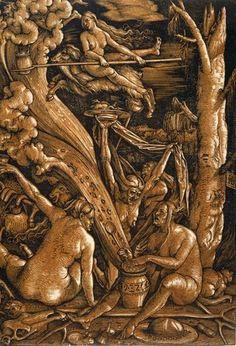 "Hans Baldung Gruen ""Witches Sabbath"""