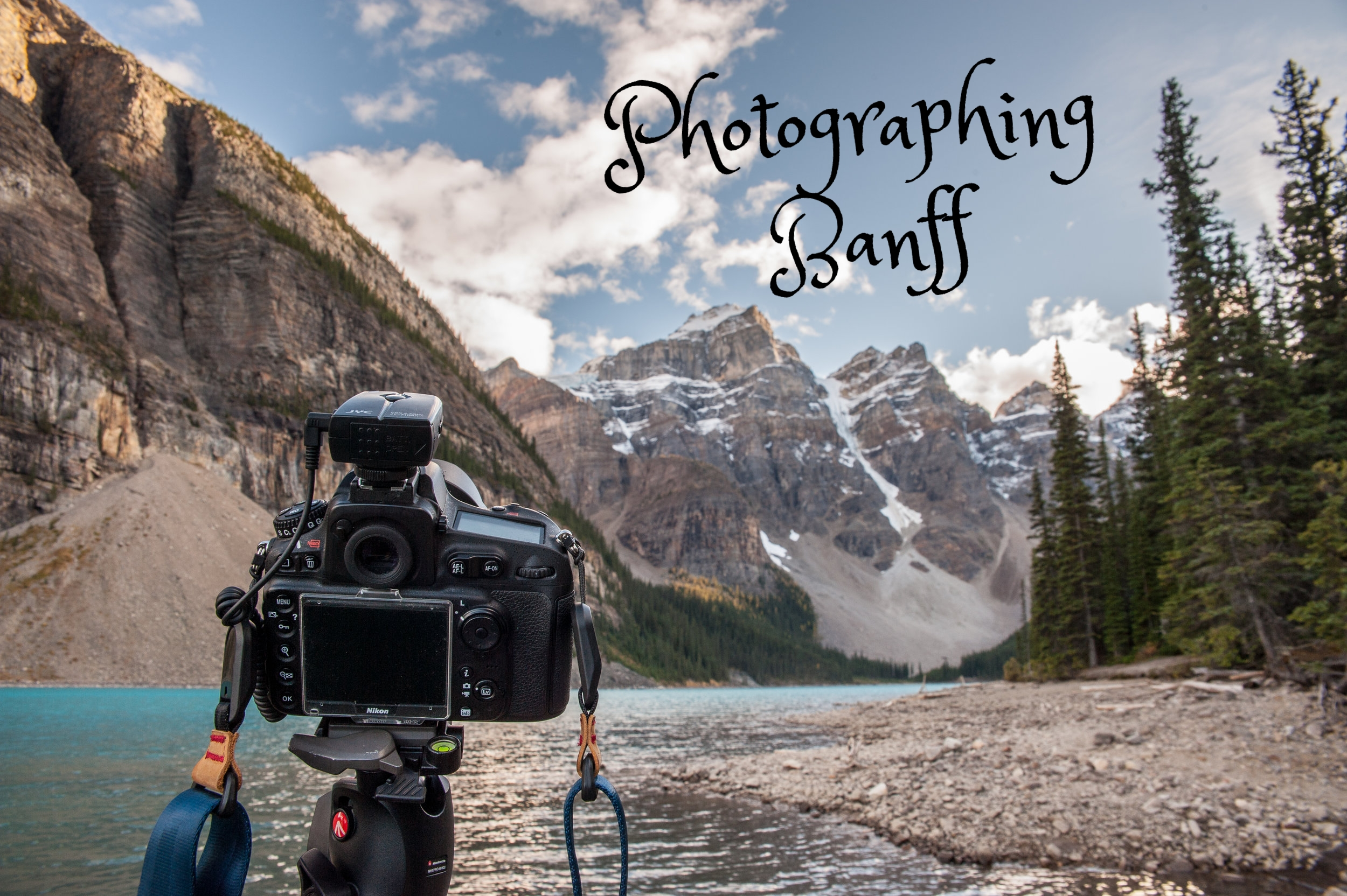 First stop on the photography checklist. Photographing Moraine Lake as the sun is setting.