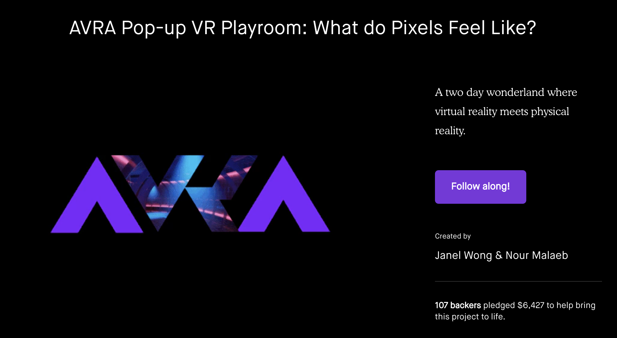 AVRA What do Pixels feels like?      VIEW PROJECT