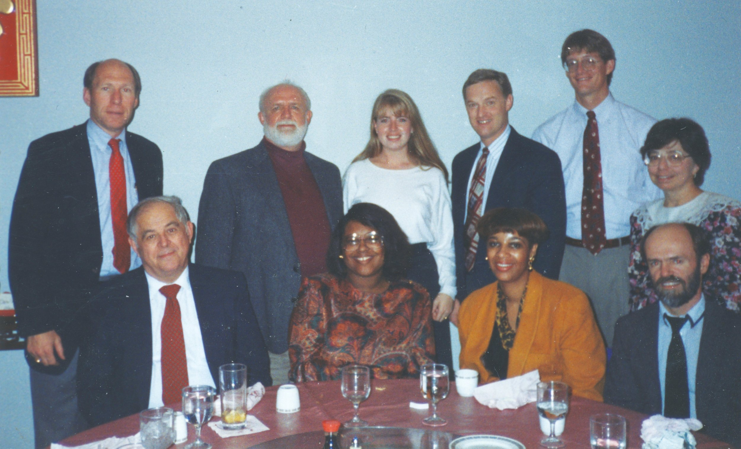 Carolyn with colleagues at the Pentagon, including mentor John Beasley to her left.
