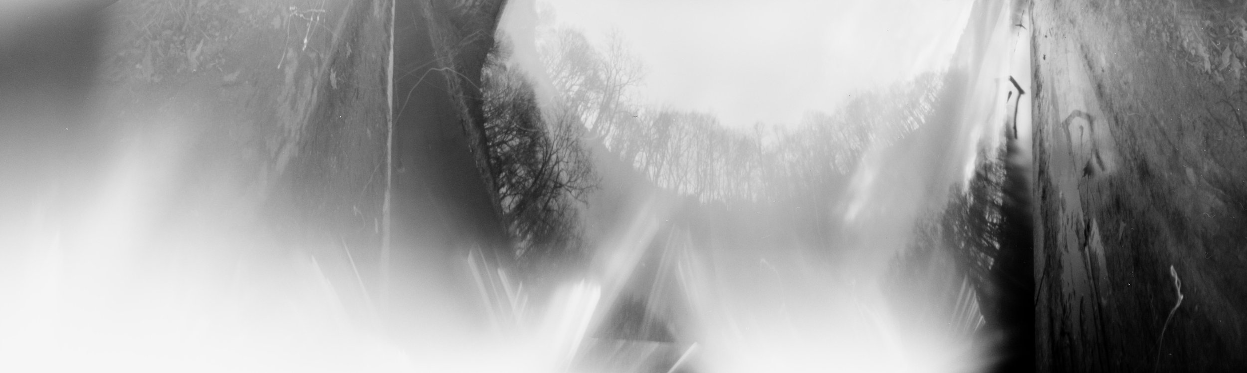 By The Lake Where I First (?) · Pinhole camera, 120mm film · Pigment Print