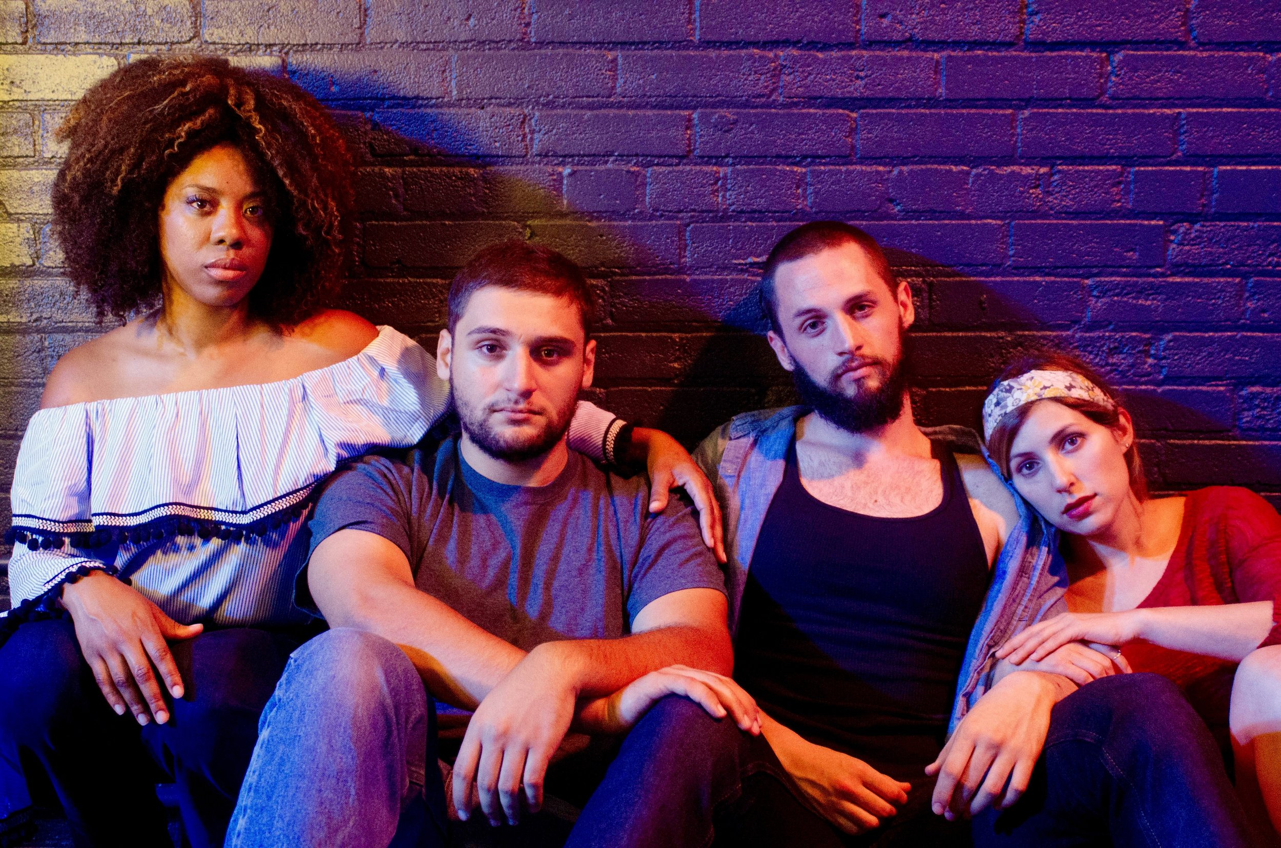 Featuring (from left to right) Candice d'Meza, Gabriel Regojo, Jeremy Gee & Stephanie Wittels Wachs Photo by Tasha Gorel