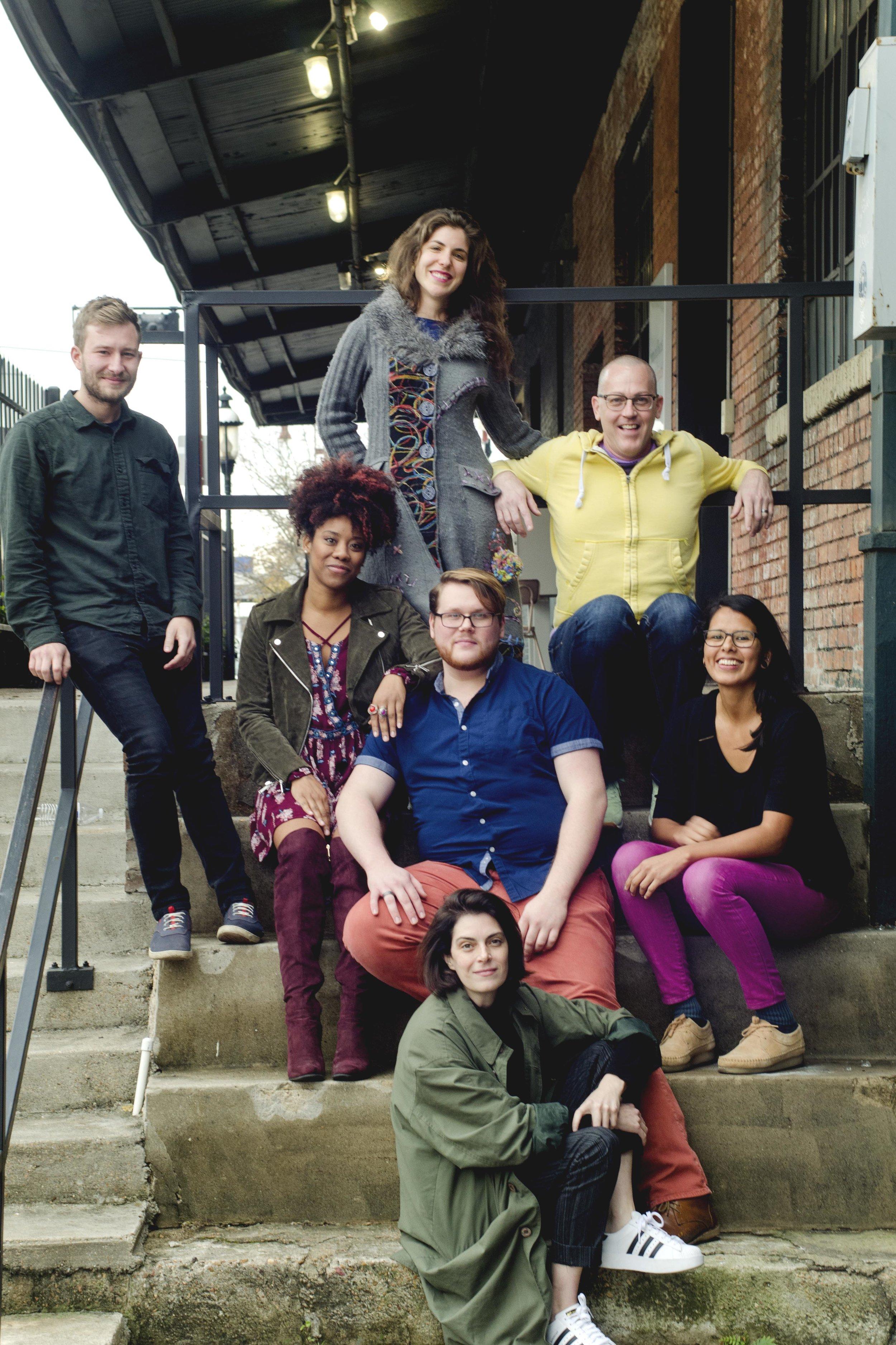 2018 Artists in Residence. (Top row from L to R) Joe Wozny,Daniela Antelo, Jhon Stronks, (Middle row from L to R) Candice D'Meza, Camron Alexander, Brenda Cruz (Bottom row) Nancy Douthey