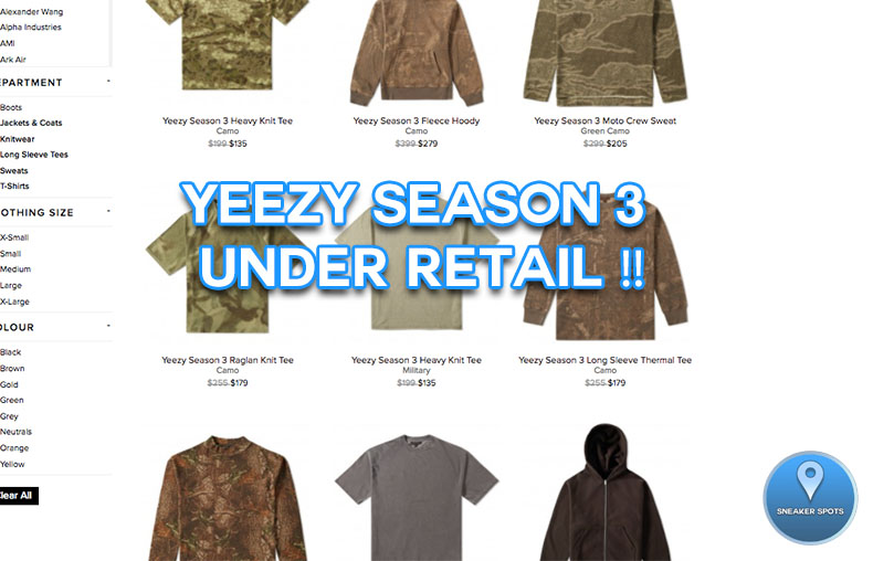 Yeezy Season 3 at End Clothing