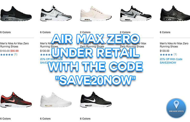 Air Max Zero at FinishLine