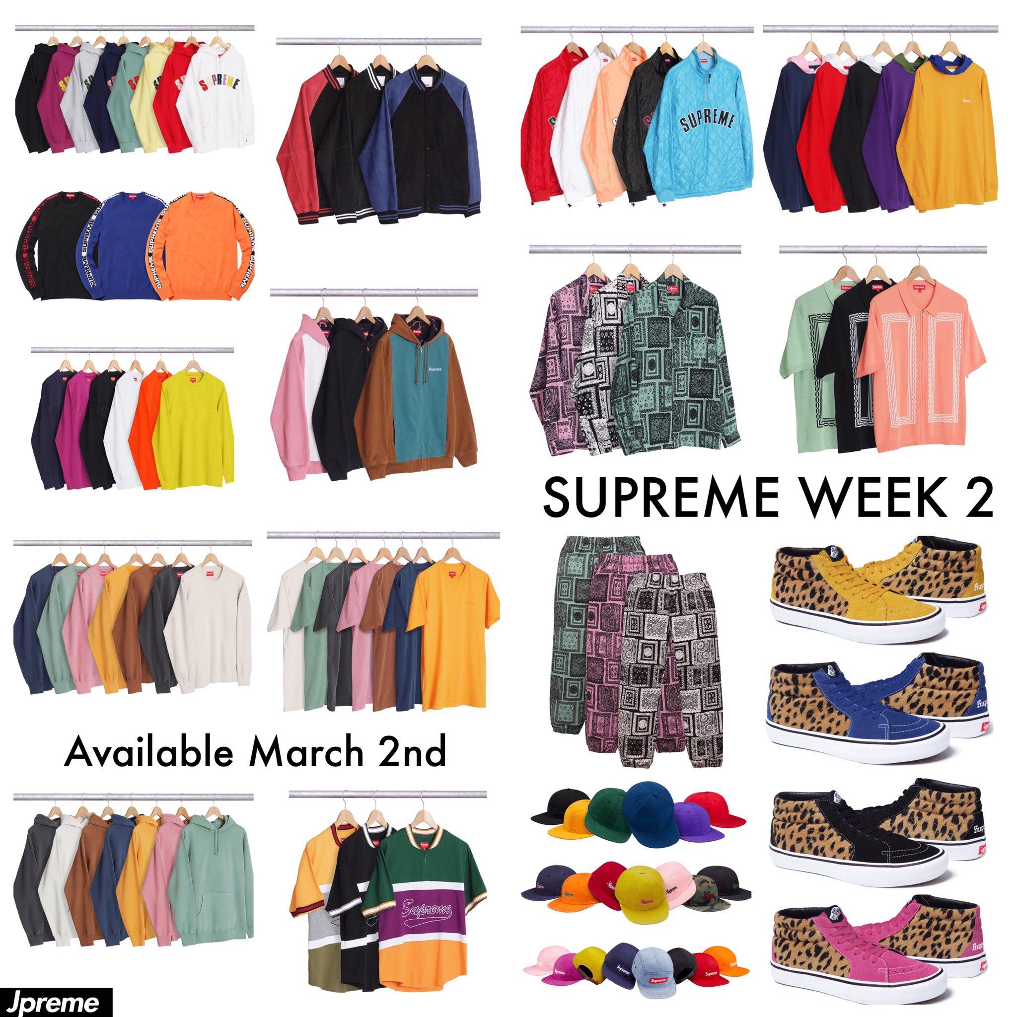Supreme Week 2 Drop