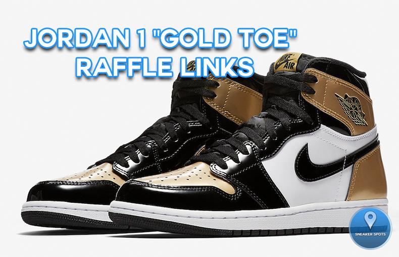 """Jordan 1 """"Gold Toe"""""""