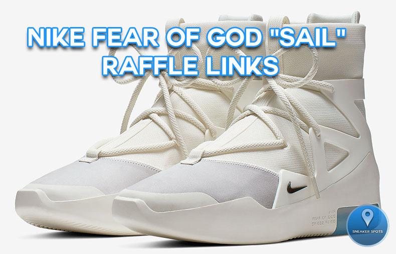 """Nike Air Fear of God """"Sail"""""""