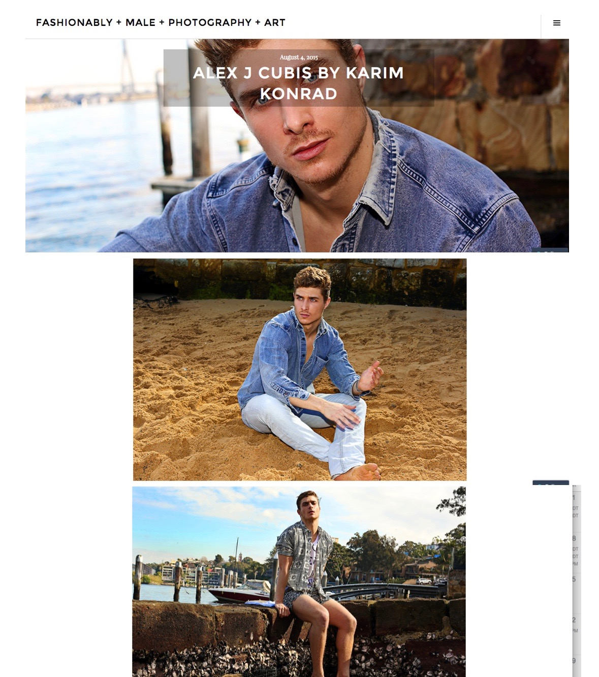 Fashionably Male Editorial & Profile: Alex Cubis