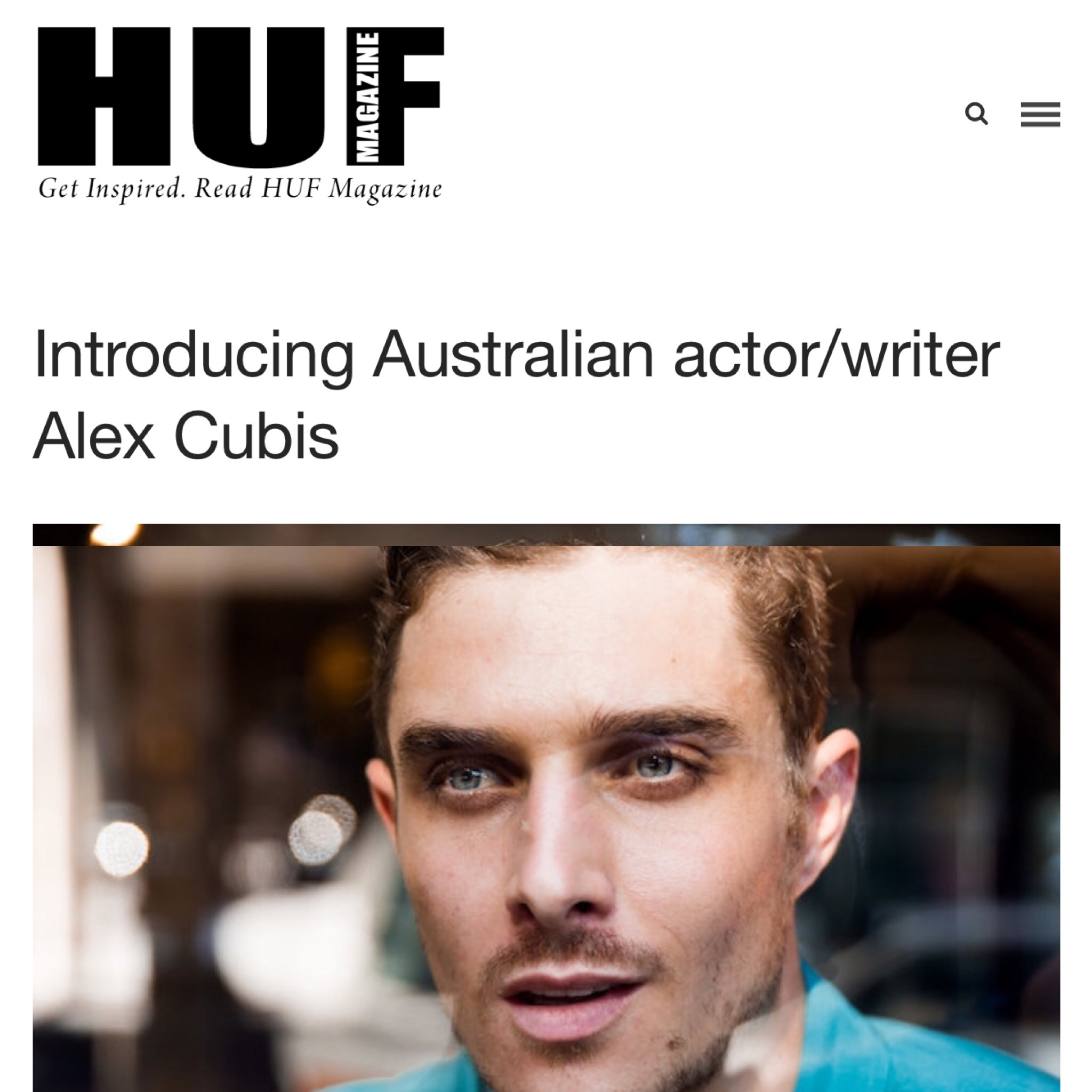Alex Cubis Huf Magazine Interview