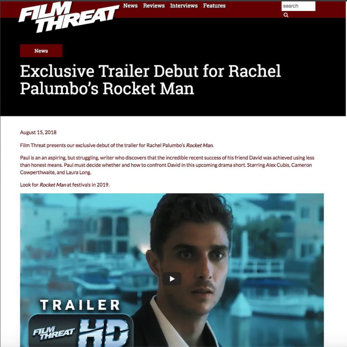 Film Threat 'Rocket Man' Trailer Debut