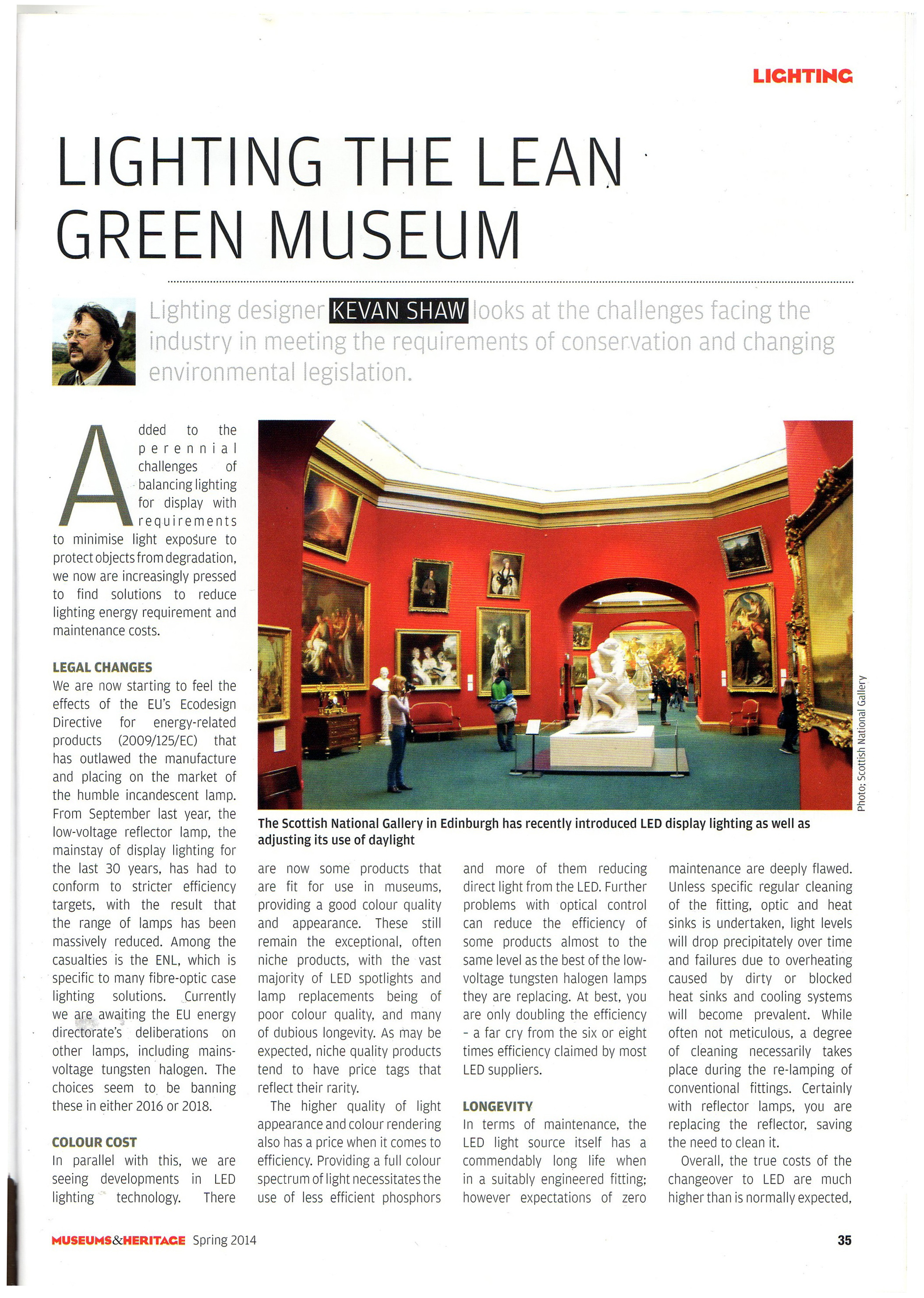 Lighting the Lean Green Museum