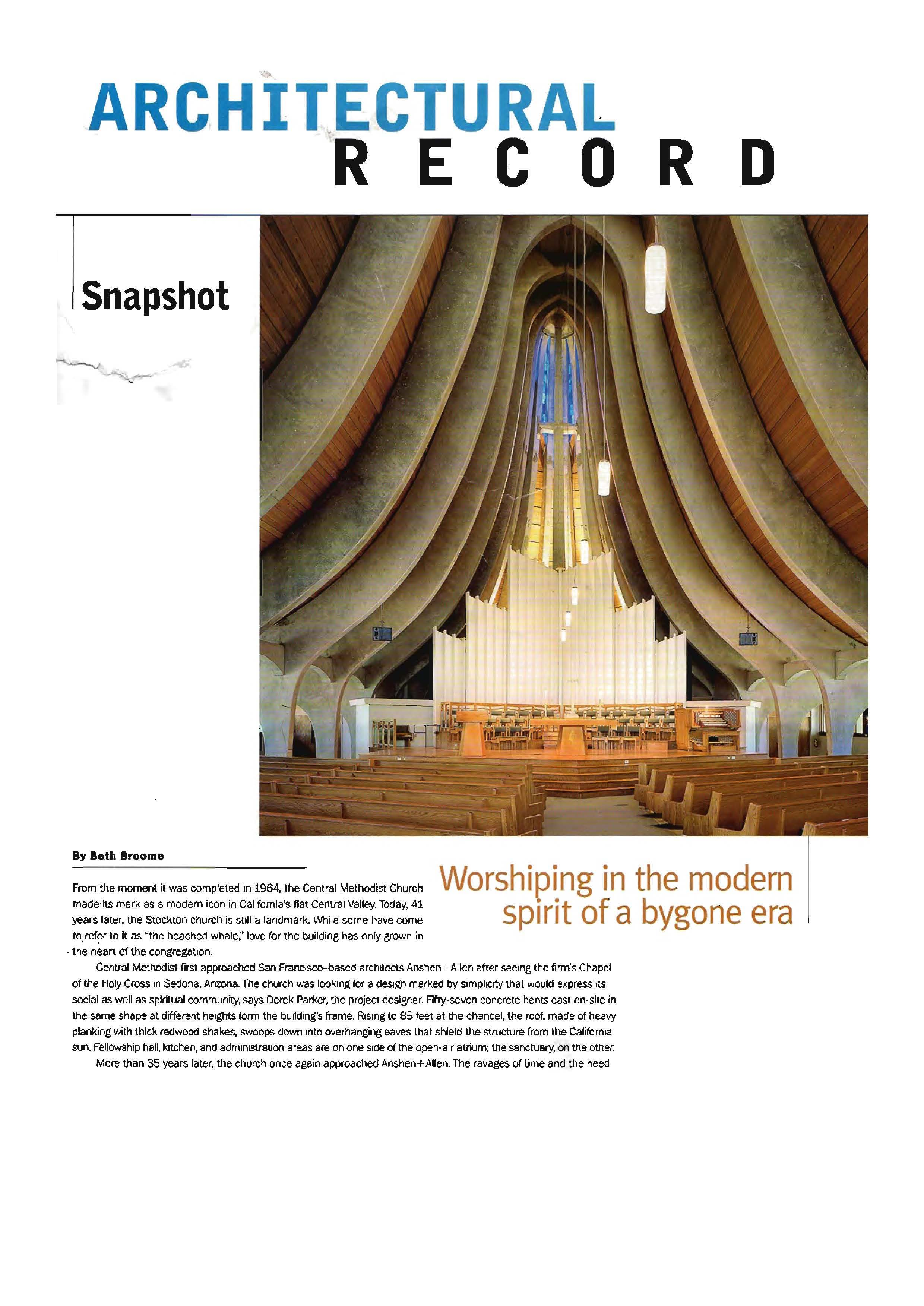 Central Methodist Church: Worshipping with a modern spirit in a bygone era