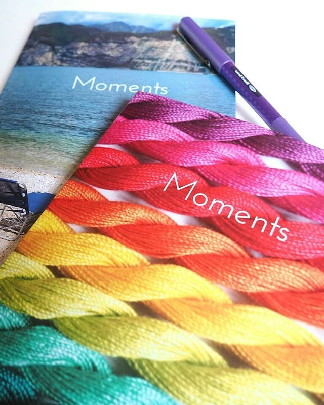 I promised I'd show you the new Moments Journal when it arrived - so here it is!  I'm so pleased with how these came out, the two cover photos look amazing on the glossy soft/paperback cover, and with just 120 pages inside (including 90 daily journal spreads) it's a much more portable option for those of you who are keen to try it out without committing to the big 365 day version.  You can see a comparison of the size if you swipe to the second photo - but the inside pages are all pretty much the same. I've changed up a couple of the inspiring quote and photo pages, and added a couple of different list prompts, but other than that it's the same journal that I know so many of you (myself included!) have come to love already.  I know some of you were interested to see different ways other people are using the Moments Journal, so I've saved a few that people have shared into a Story Highlight which you'll find on my profile.  The link in my bio will also take you to where you can buy a copy and get started with your own journal of moments that matter to you.  Which cover will you choose though? The beach view, or the rainbow threads?  #mymomentsjournal #momentsjournal #journalingmoments #dailyjournal #journalyourlife #journallove #journalwriting #journalkeeping #journalcommunity #stationeryaddict #stationerylove #savouringmoments #capturingeverydaymoments #livethelittlethings #createalifeyoulove #createyourreality #manifestyourlife #alifeofintention #consciousliving #journeyofme #seekmoments #seekinspirecreate #tinytinymoments #smallmomentsofcalm #colourmyeveryday #colourmehappy #colorcolourlovers #rainbowismyfavouritecolour #ihavethisthingwithrainbows