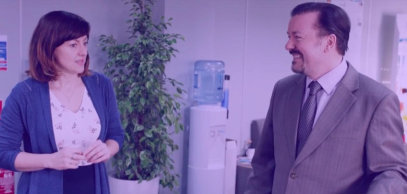 """Le meilleur """"mauvais manager"""" de tous les temps, c'est Ricky Gervais dans """" The Office"""" . À voir !"""
