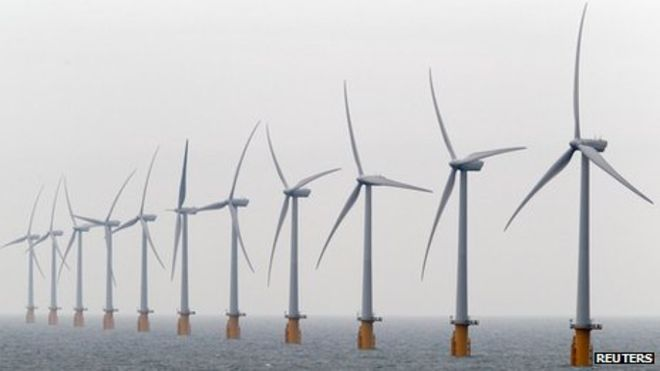 - The world's largest offshore wind farm is Thanet at Ramsgate. Picture: Reuters.