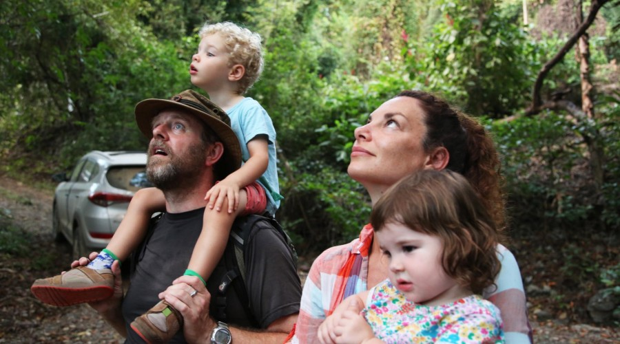 - Gaia, Nick and their children in Costa Rica. Picture: Channel 4.
