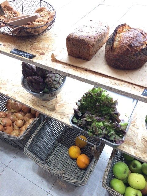 Bread from Luminary; fresh produce from Langridge Organics. Picture: Bel Jacobs.