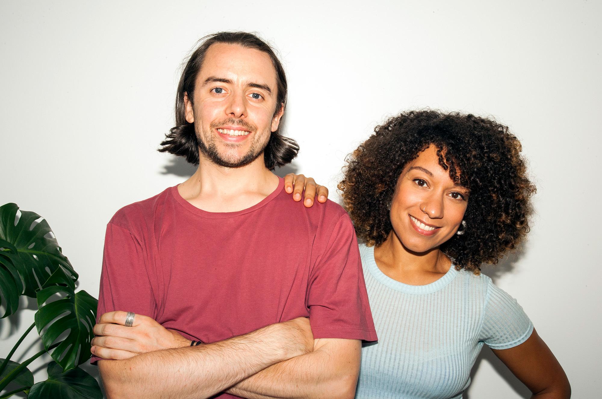 Ben Pook and Roxy Pope, founders of online vegan recipe channel  So Vegan