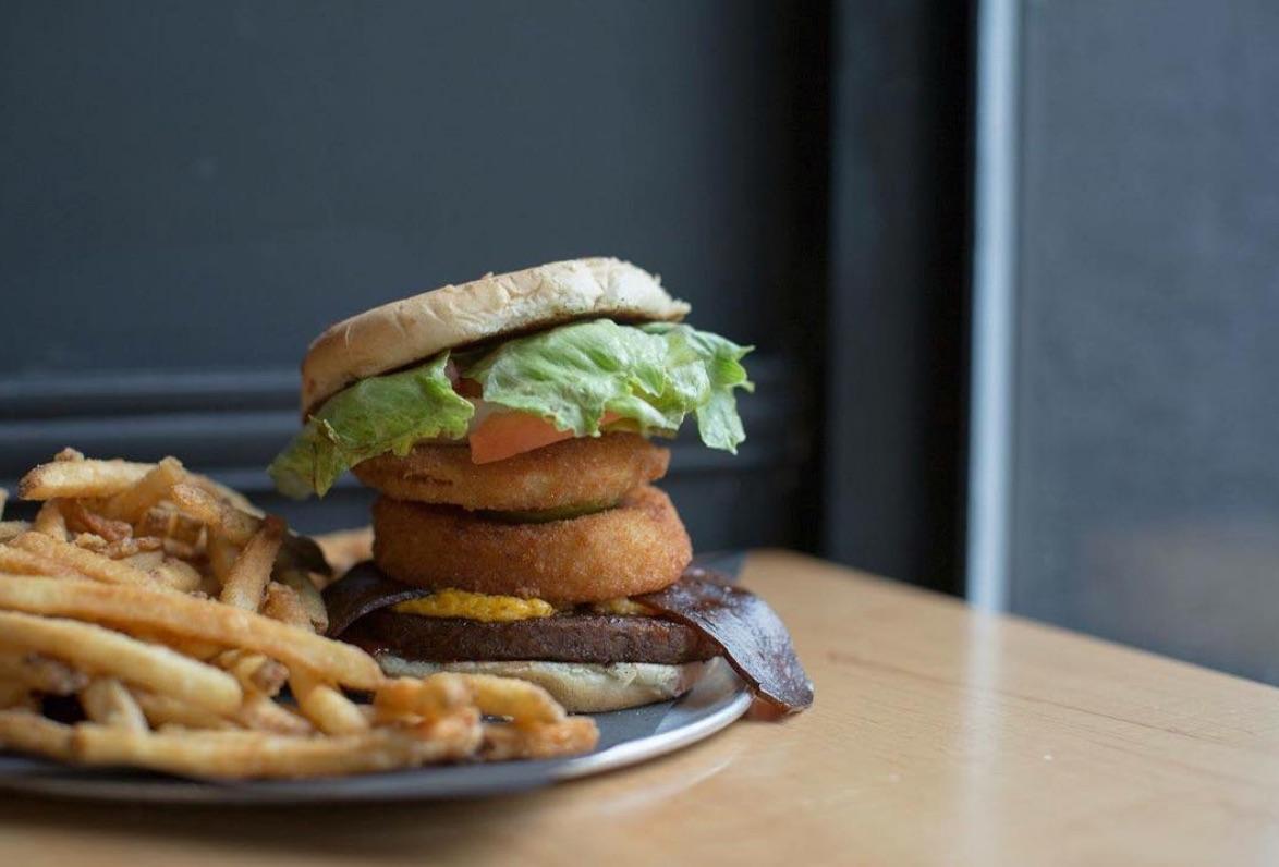 Onion rings belong on burgers at  doomiestoronto