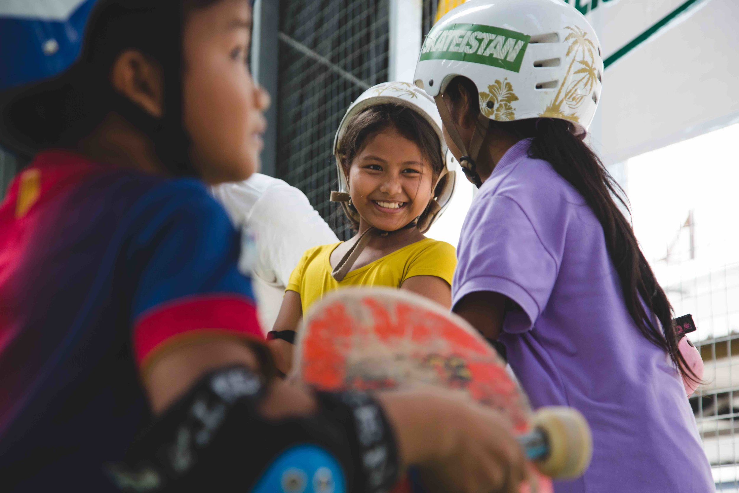 53% of Skateistan students in Phnom Penh are girls. Picture: Jeremy Meek.jpg